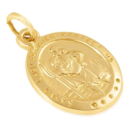 14KT Yellow Gold Oval Disc