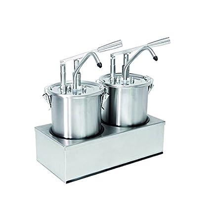 Dispensador de salsa (2 compartimento), cada uno con 5 litros de capacidad,