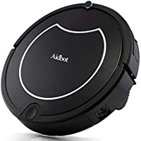 Aidbot Smart Robotic Vacuum Cleaner Auto Strong Suction Vacuum Robot Self-Charge Low Noise Dual Central Roller Sweeper Mop Robotic Vacuums with Virtual Blocker for Pet Hair Low-pile Carpet Floor