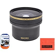52mm 0.17X Super Wide Fisheye Lens For Nikon DF, D90, D3000, D3100, D3200, D3300, D5000, D5100, D5200, D5300, D5500, D7000, D7100, D300, D300s, D600, D610, D700, D750, D800, D810 Digital SLR Cameras Which Has Any Of These Nikon Lenses 24mm f/2.8, 35mm f/1.4 AIS, 35mm f/1.8G, 35mm f/2D, 40mm f/2.8G, 50mm f/1.8, 50mm f/1.2, 50mm f/1.4, 55mm f/2.8, 85mm f/3.5G, 105mm f/2.8, 200mm f/2G, 18-55mm, 200-400mm, 55-200mm