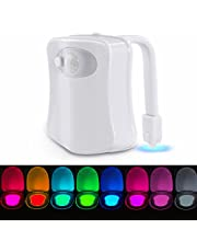 Toilet Night Light, LED Toilet Light Toilet Lamp with Motion Sensor Battery Operated Light Toilet Light Toilet Lighting for Children Parents in The Bathroom, Home