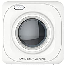 Hongfei Mini Bluetooth Printer Wireless Paper Photo Printer Portable Instant Mobile Printer with Print Papers for iPhone/iPad/Mac/Android Smartphone Tablet Devices