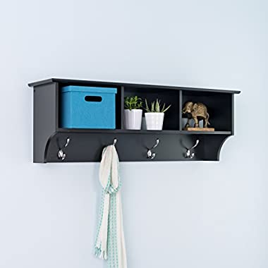 Black Entryway Cubbie Shelf