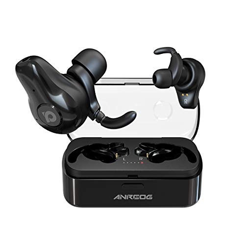 Wireless Earbuds,ANROOG A10 Bluetooth 5.0 Noise Canceling Earbuds W Charging Case&Extra Long Playtime 40Hrs,Truly Wireless Surround Sound Headphones for Music Lovers&Professionals-Built In Mic (black)