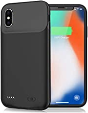 Battery Case for iPhone X/XS/10, 7000mAh Portable Rechargeable Battery Pack Charging Case for iPhone X/XS/10 (5.8 inch) Extended Battery Smart Charger Case Backup Power Bank (Black)