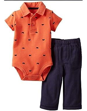Carter's Baby Boys' 2 Piece Bodysuit and Pants Set