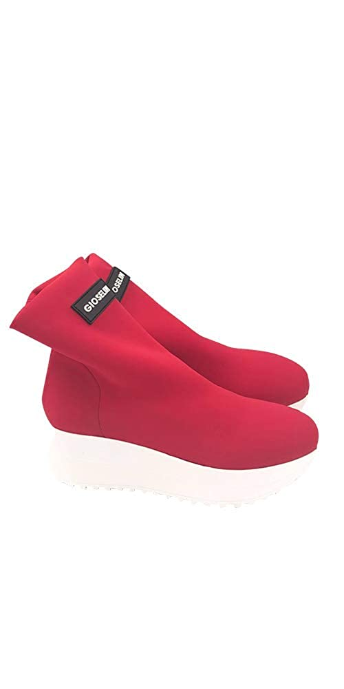 Gioselin , Damen Turnschuhe Rot rot