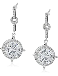 Sterling Silver and Cubic Zirconia Drop Earrings