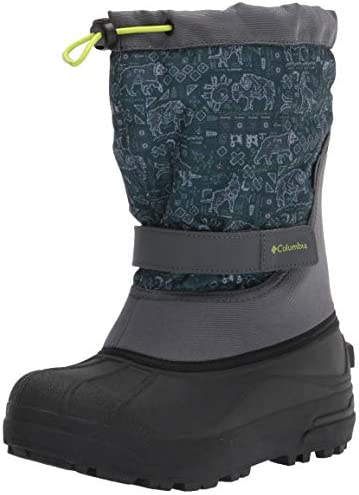 Columbia Unisex-Child Powderbug Plus Ii Print Snow Boot