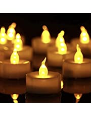 Tea Light, 150 Pack Flameless LED Tea Lights Candles Flickering Warm Yellow 100+ Hours Battery-Powered Tealight Candle. Ideal for Party, Wedding, Birthday, Gifts and Home Decoration (150 Pack)
