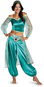 Disguise Women's Disney Aladdin Jasmine Sassy Prestige Costume, Green, Small