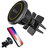 IKOPO Magnetic Phone Car Mount,Cell Phone Holder for Car Air Vent with Strong Magnetic Suitable for Any Smartphones (Yellow)