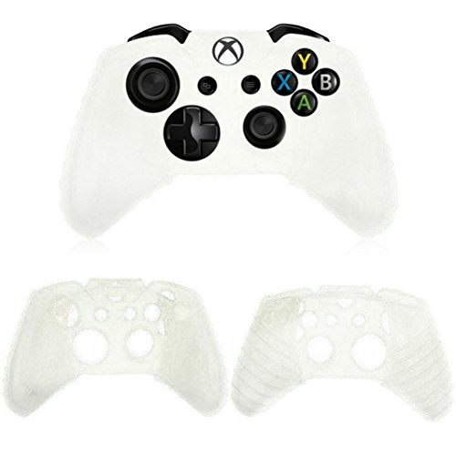 Price comparison product image Amiley Hot Sale Silicone Rubber Non-Slip Skin Case Gel Protective Cover For Xbox One Wireless Controller (White)