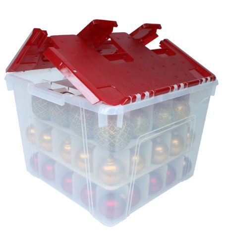 Holiday Wing-Lid Box with Ornament Dividers 60QT WL-60 (1) by IRIS USA, Inc.