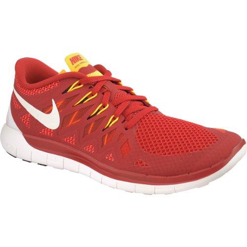 NIKE Men's Free Run+ 5.0 Running Shoes - Size: 15, Gym Red/white