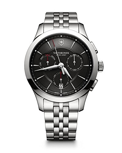 Victorinox Men's 'Alliance' Swiss Quartz Stainless Steel Casual Watch, Color:Silver-Toned (Model: 241745)