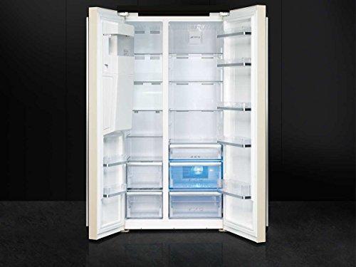 Smeg Kühlschrank Victoria : Smeg sbs963p side by side kühl gefrier kombination creme eek a