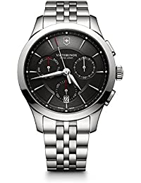 Men's 'Alliance' Swiss Quartz Stainless Steel Casual Watch, Color:Silver-Toned (Model: 241745)
