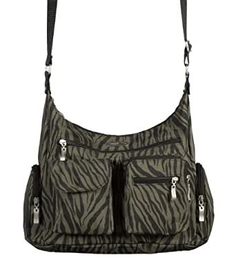 Baggallini Luggage Everywhere Classic Hobo Style Bag, Zebra, One Size