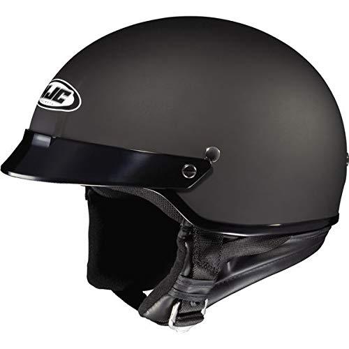 HJC Solid CS-2N Half (1/2) Shell Motorcycle Helmet - Flat Black / X-Large