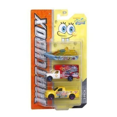 Matchbox Tv Heroes Spongebob Squarepants 3-vehicle Pack: Toys & Games