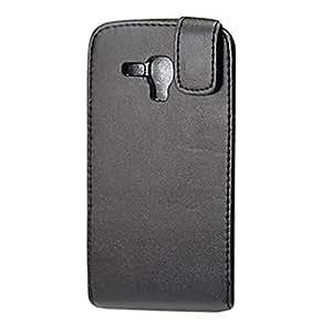SUMCOM Black Elegant PU Leather Full Body Flip Case Cover for Samsung I8262D