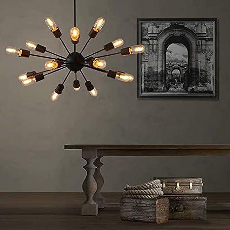 Lingkai 18 Luz Industrial estilo Sputnik lampara colgante l¨¢mpara de ara?a, Iluminaci¨®n de techo vintage Iluminación colgante moderno Lámparas de ...