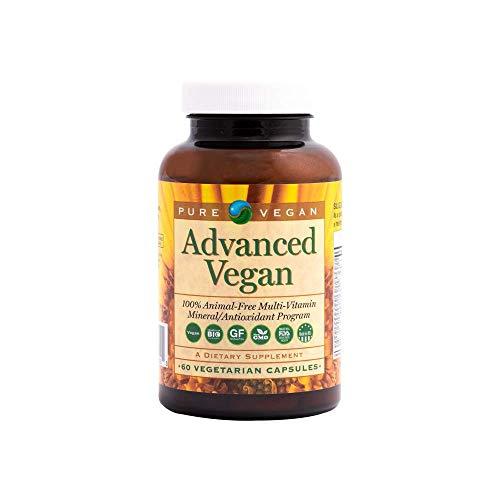 Pure Vegan Advanced Vegan Multi-Vitamin Capsules, 60 Count