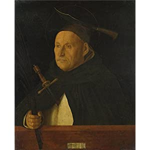 'Giovanni Bellini A Dominican With The Attributes Of Saint Peter Martyr ' Oil Painting, 10 X 12 Inch / 25 X 31 Cm ,printed On High Quality Polyster Canvas ,this Cheap But High Quality Art Decorative Art Decorative Canvas Prints Is Perfectly Suitalbe For