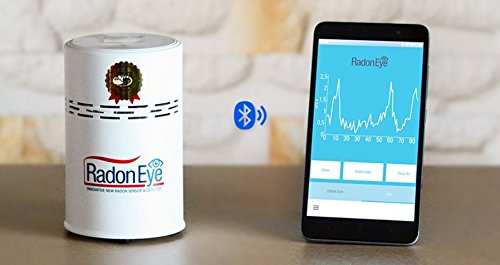 Radon Eye RD200 Smart Radon Monitor Detector for Home Owners Testing, SmartPhone Enabled (Safety Siren Pro Series3 Radon Gas Detector)