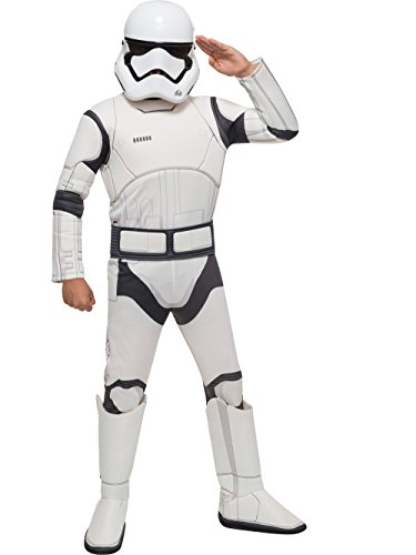 Star Wars VII: The Force Awakens Deluxe Child's Stormtrooper Costume and Mask, Medium ()