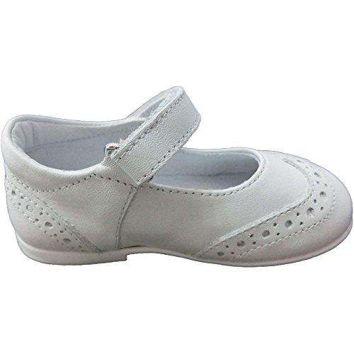 Naturino - Bailarinas de Piel para niña blanco Bianco 25