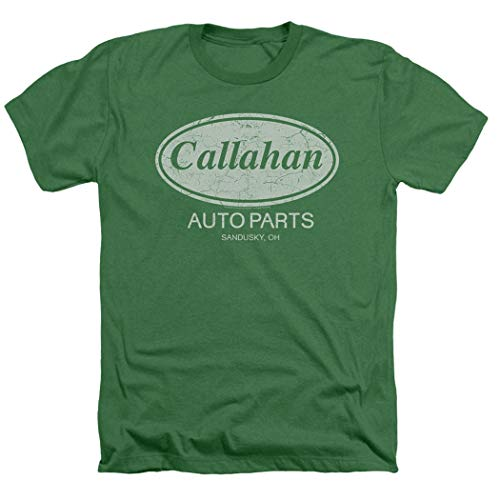 Popfunk Tommy Boy Callahan Auto Parts Heather T Shirt (X-Large) Green