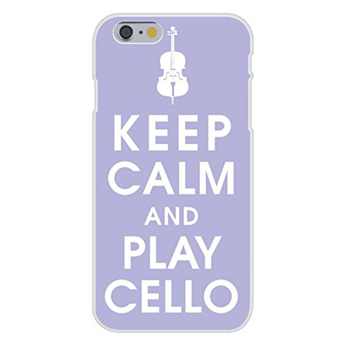 (Apple iPhone 6 Custom Case White Plastic Snap On - Keep Calm and Play Cello by Hat Shark)