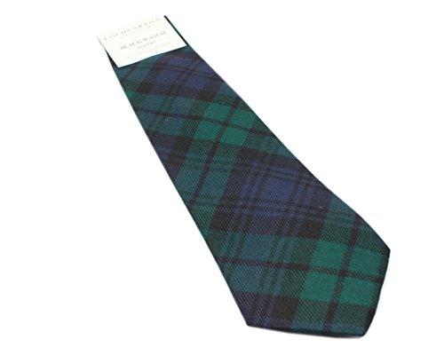 Black Watch Modern Wool Plaid Check Tartan Tie