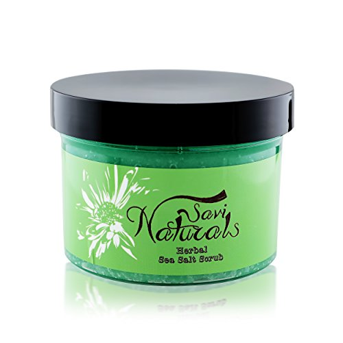 (Natural Sea Salt Scrub with Collagen - Shea Butter with Vitamin E and Sweet Almond - Best Skin Lotion Prevention for Body and Hand with Aloe - Fruit - Coconut Oil and Avocado (Herbal))