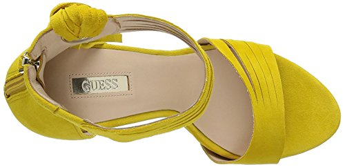 GUESS Sue03 - sandalias con correa Mujer Amarillo