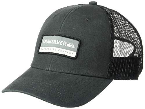Quiksilver Men's Rinsed Trucker HAT, Black, 1SZ