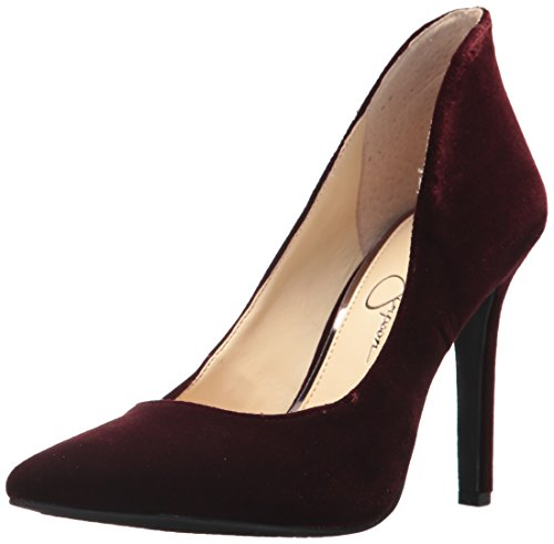 Jessica Simpson Women's Cambredge Pump, Rouge Noir, 9 Medium US (Noir Rouge)
