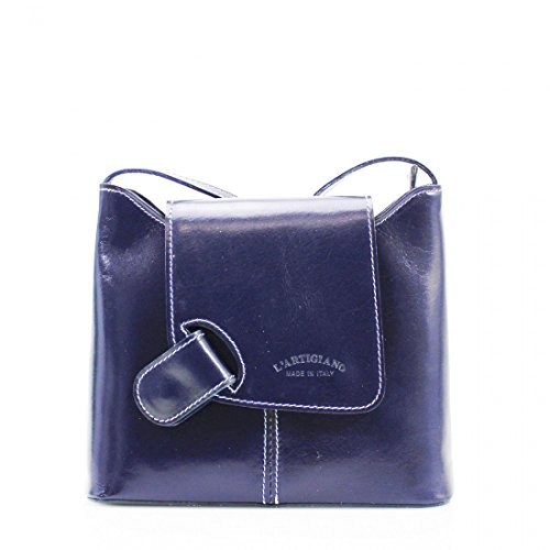 Over Bag Messenger Cross Women Adjustable strap Bag Bag Shoulder Navy Pelle Ladies Vera Body Leather crossbody pA6x0qn5w8