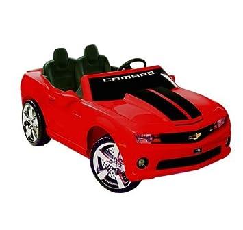 chevrolet racing camaro 12v mini car kids ride on toy