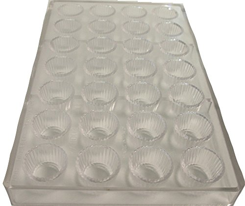 Martellato Polycarbonate Chocolate Mold, Peanut Butter Cup (Butter Mold Paderno)