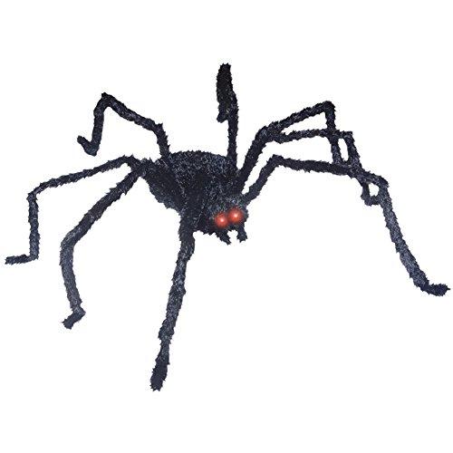 [49-in Animated Black Spider Prop] (Black Spider Animated Prop)