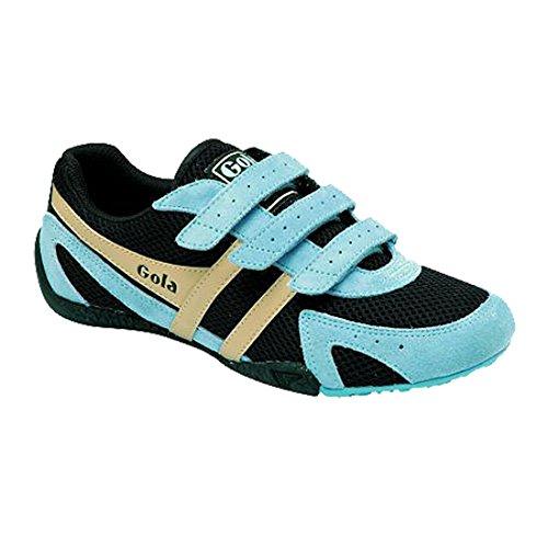 Gola Womens Conflict Low Top Fashion Sneaker Nero Ecru Blu Pallido