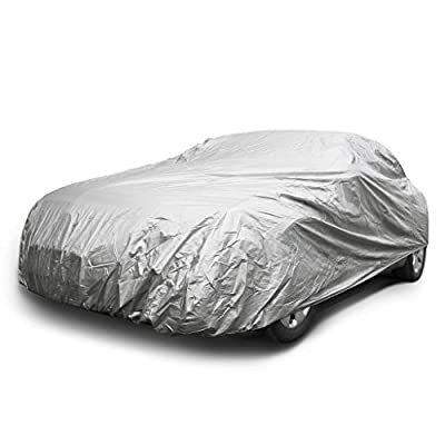 COPAP Universal Nylon Car Cover Fits Sedans up to 190 inches UV & Dust Proof Elastic Indoor Outdoor
