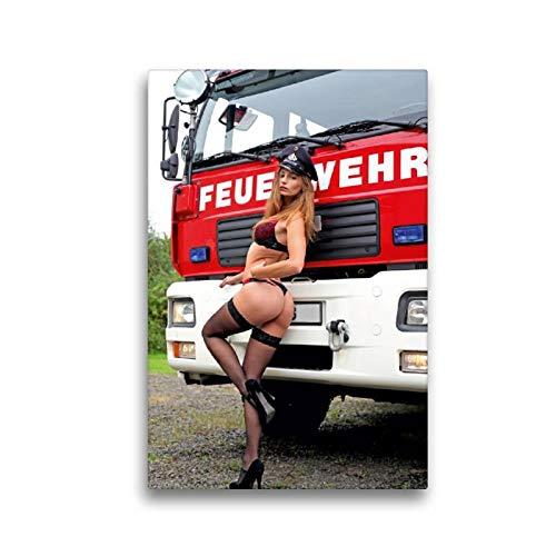 CALVENDO Thomas Siepmann Toile en Textile de qualité supérieure Motif Calendrier de Pompiers et Photos érotiques de Thomas Siepmann 30 x 45 cm