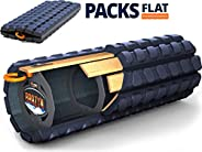 Brazyn Morph (Packable) Foam Roller - for Travel, Gym, Office, Home - Collapsible & Lightweight -