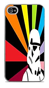Rainbow Stormtrooper Rising Sun White Hardshell Case for iPhone 4 / 4S by icecream design