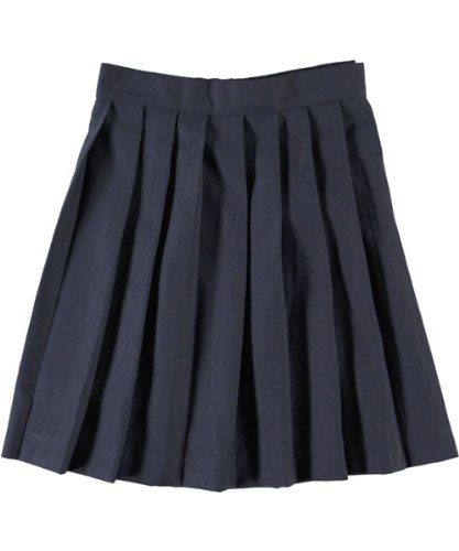 French Toast Pleated Skirt - navy, 12