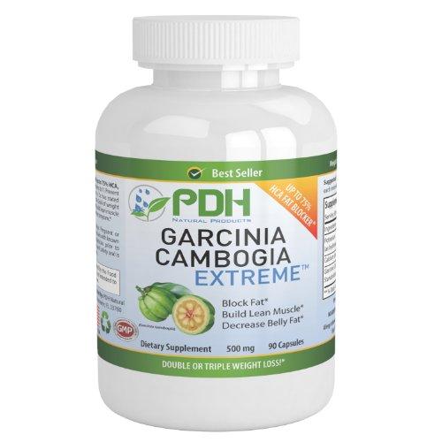 Pur Garcinia Cambogia Extract-75% HCA - Appétit, Supplément de perte de Carb Blocker et efficace Fat Burner Poids
